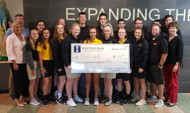 Golf Donation Fits BGHS to a Tee